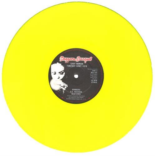 "Gary Numan 1978 - Nineteen - Yellow vinyl 12"" vinyl single (12 inch record / Maxi-single) UK NUM12NI43524"