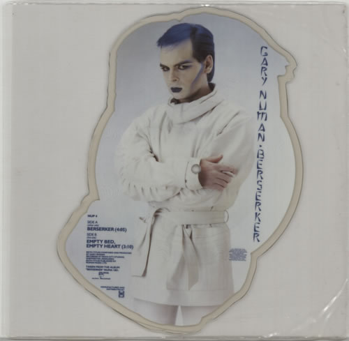 Gary Numan Berserker shaped picture disc (picture disc vinyl record) UK NUMSHBE38547