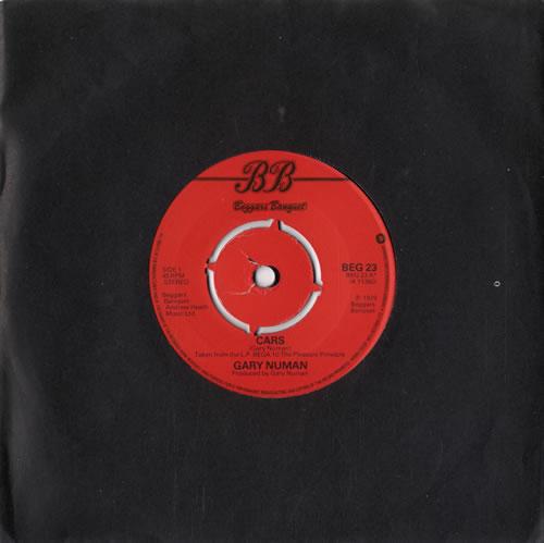 "Gary Numan Cars - 4 Prong 7"" vinyl single (7 inch record) UK NUM07CA42340"