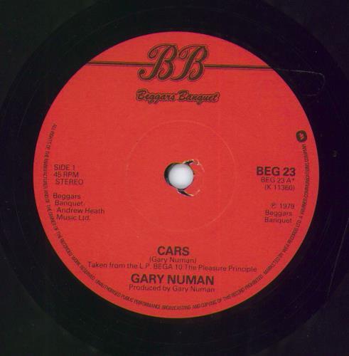 "Gary Numan Cars - Solid 7"" vinyl single (7 inch record) UK NUM07CA586567"