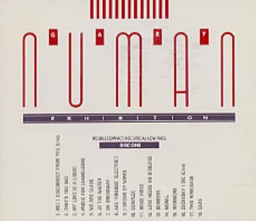 Gary Numan Exhibition Canadian 2 Cd Album Set Double Cd