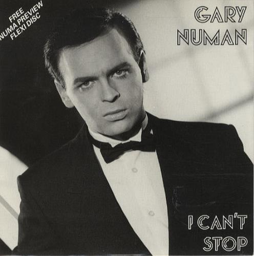 "Gary Numan I Can't Stop + flexi 7"" vinyl single (7 inch record) UK NUM07IC160634"
