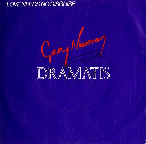 "Gary Numan Love Needs No Disguise 7"" vinyl single (7 inch record) UK NUM07LO226314"