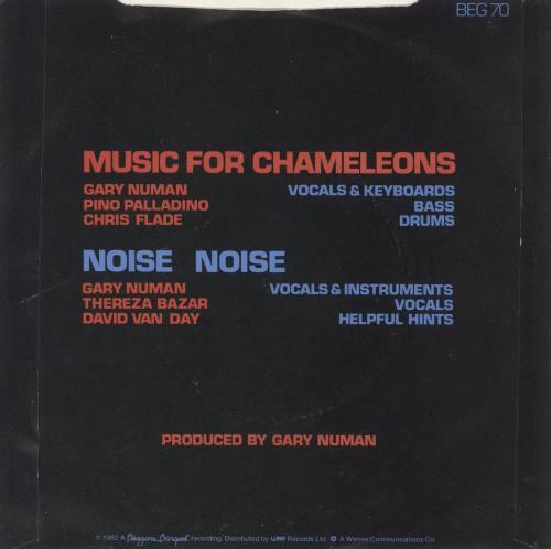 "Gary Numan Music For Chameleons - Misprint 7"" vinyl single (7 inch record) Irish NUM07MU741474"