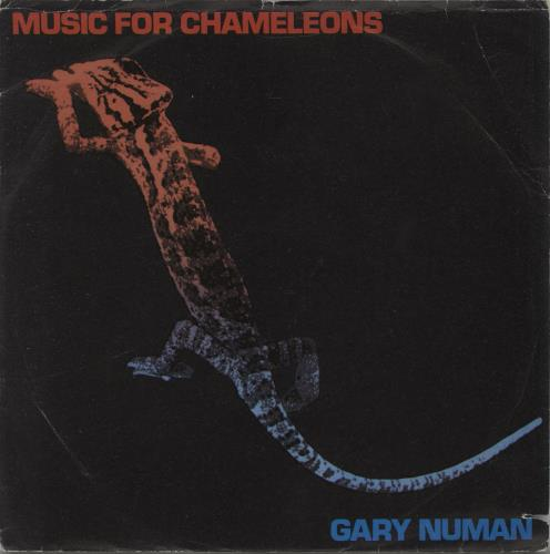 "Gary Numan Music For Chameleons - Wide Centre + Mispressed Sleeve 7"" vinyl single (7 inch record) Italian NUM07MU673967"
