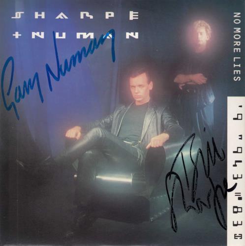 """Gary Numan No More Lies - Autographed 7"""" vinyl picture disc 7 inch picture disc single UK NUM7PNO07353"""