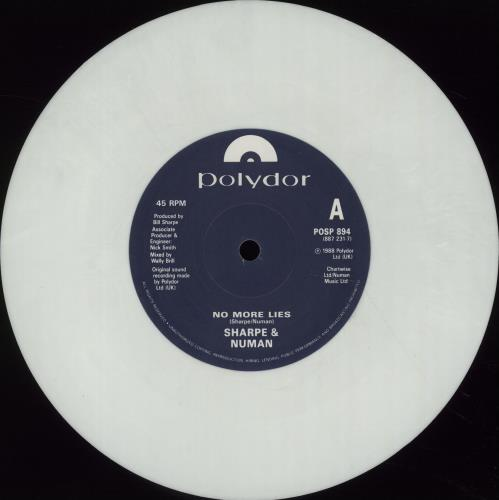 "Gary Numan No More Lies - White vinyl 7"" vinyl single (7 inch record) UK NUM07NO638635"