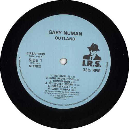 Gary Numan Outland vinyl LP album (LP record) UK NUMLPOU629158