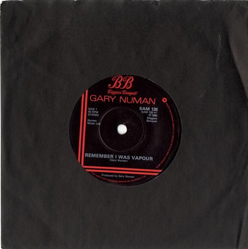 """Gary Numan Remember I Was Vapour 7"""" vinyl single (7 inch record) UK NUM07RE601823"""