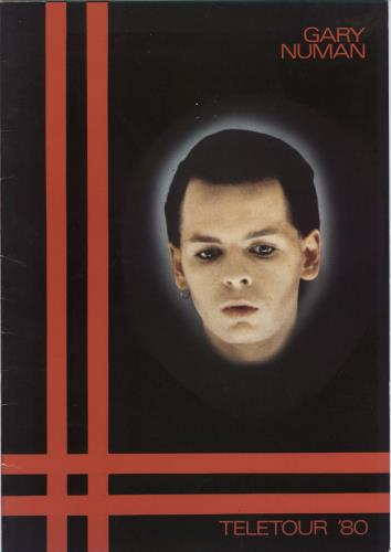 Gary Numan Teletour '80 + Merch Insert tour programme UK NUMTRTE768573
