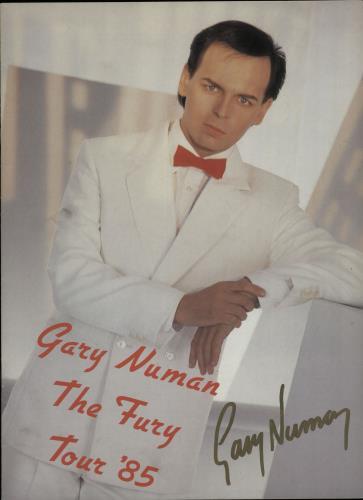 Gary Numan The Fury - Autographed tour programme UK NUMTRTH648644