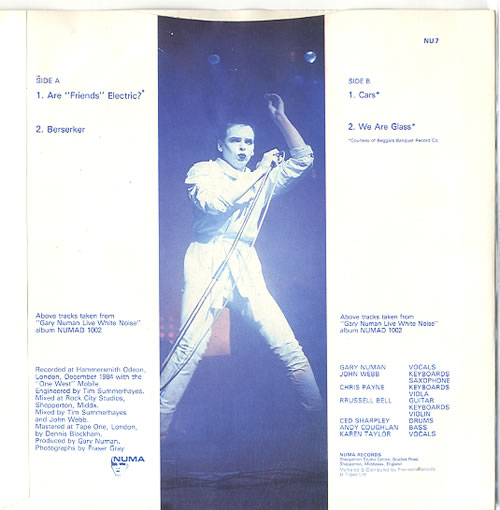 "Gary Numan The Live EP - Black Vinyl 7"" vinyl single (7 inch record) UK NUM07TH622581"