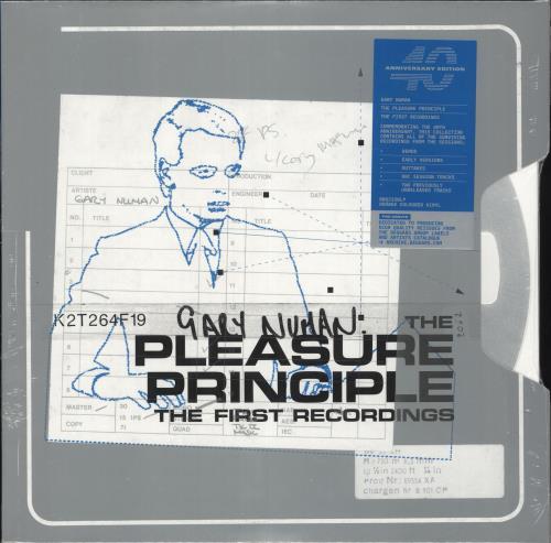 Gary Numan The Pleasure Principal: The First Recordings - Orange Vinyl - Sealed 2-LP vinyl record set (Double Album) UK NUM2LTH731358