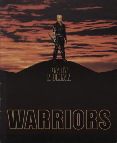 Gary Numan Warriors 1983 + Photobook Advertisement Insert tour programme UK NUMTRWA768572