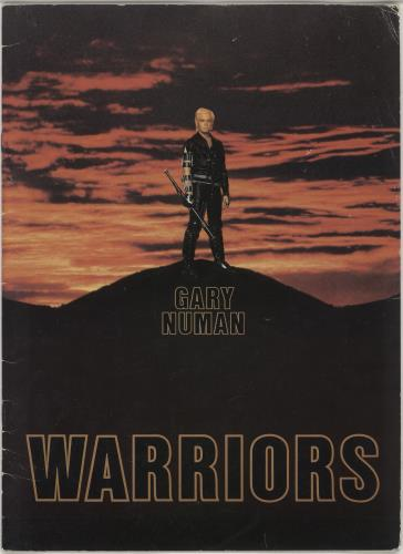 Gary Numan Warriors 1983 + Ticket Stubs tour programme UK NUMTRWA749342
