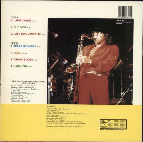 Gato Barbieri Apasionado vinyl LP album (LP record) UK GB6LPAP727068