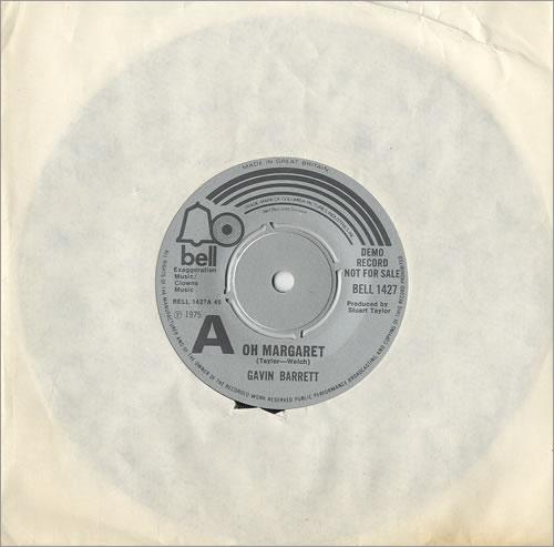 "Gavin Barrett Oh Margaret 7"" vinyl single (7 inch record) UK GVI07OH485129"