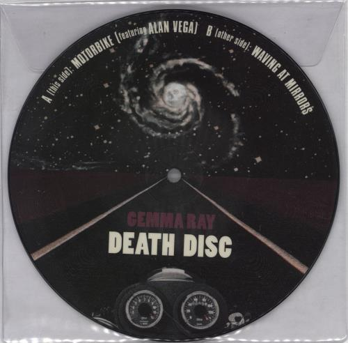 """Gemma Ray Death Disc 7"""" vinyl picture disc 7 inch picture disc single UK GKU7PDE766288"""