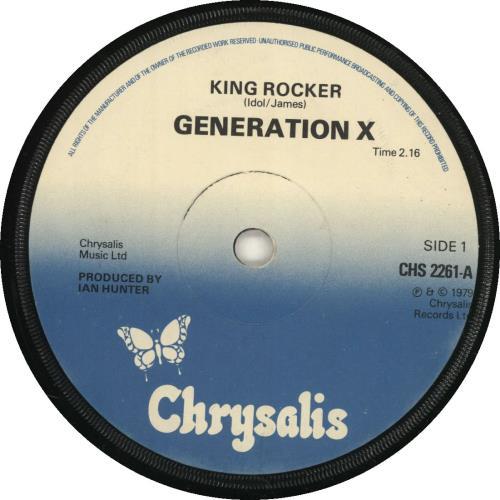 "Generation X King Rocker - Solid 7"" vinyl single (7 inch record) UK GEX07KI697449"
