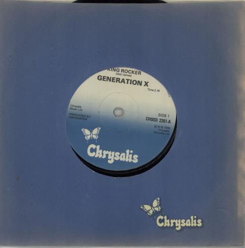 "Generation X King Rocker 7"" vinyl single (7 inch record) UK GEX07KI676896"