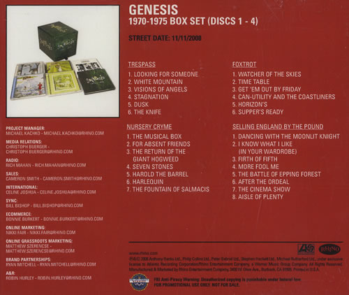 genesis 1970 to 1975 vinyl