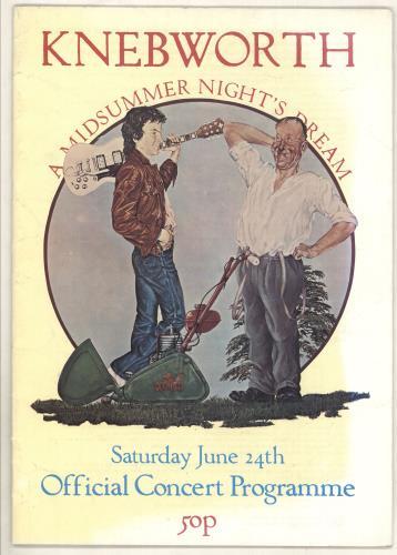Genesis A Midsummer Nights Dream tour programme UK GENTRAM736595