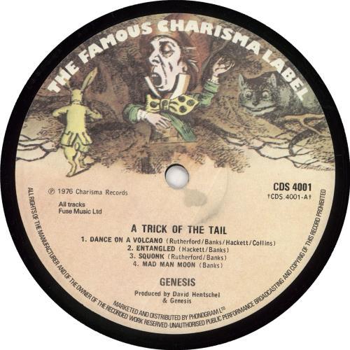 Genesis A Trick Of The Tail - 2nd vinyl LP album (LP record) UK GENLPAT715291