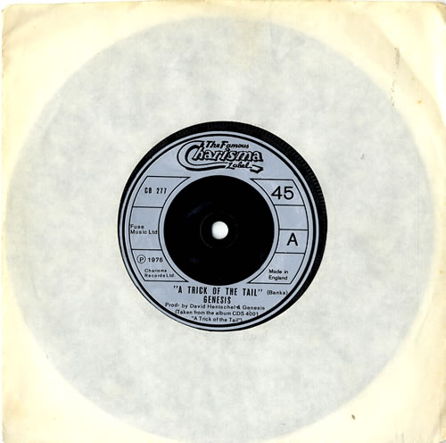 """Genesis A Trick Of The Tail - Silver Label 7"""" vinyl single (7 inch record) UK GEN07AT604538"""