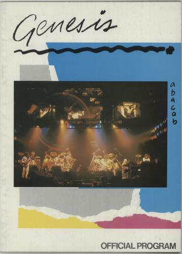 Genesis Abacab + Ticket Stubs tour programme UK GENTRAB687468