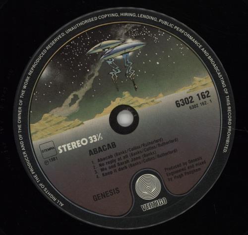 Genesis Abacab - G/Y/B/R vinyl LP album (LP record) Dutch GENLPAB299711