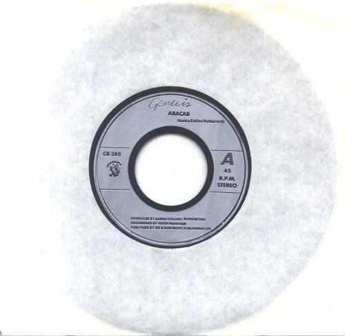 "Genesis Abacab - Jukebox - Inj 7"" vinyl single (7 inch record) UK GEN07AB598880"