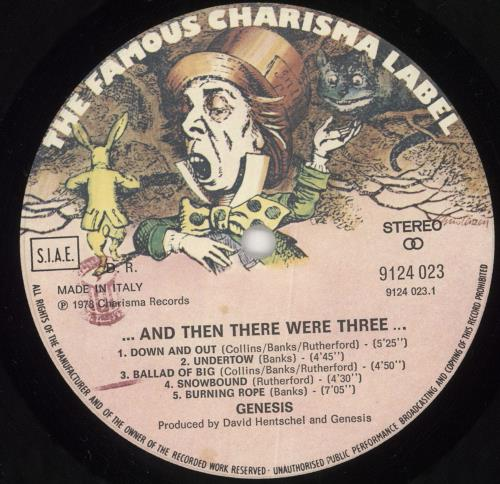 Genesis And Then There Were Three vinyl LP album (LP record) Italian GENLPAN727247