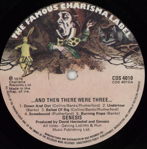 Genesis And Then There Were Three vinyl LP album (LP record) Irish GENLPAN765021