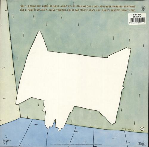 Genesis Duke - 80s vinyl LP album (LP record) German GENLPDU691389