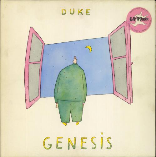 Genesis Duke - Stickered Sleeve vinyl LP album (LP record) UK GENLPDU249606