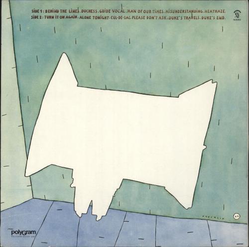 Genesis Duke vinyl LP album (LP record) Portugese GENLPDU739085
