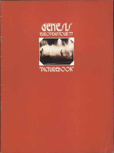 Genesis European Tour '77 - EX tour programme UK GENTREU717876