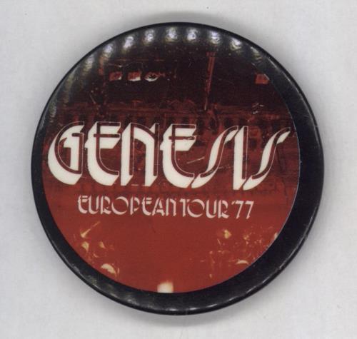 Genesis European Tour '77 badge UK GENBGEU768448