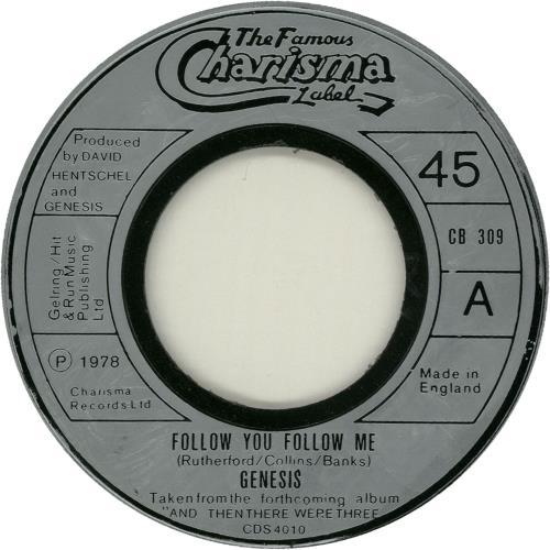"Genesis Follow You Follow Me - Jukebox 7"" vinyl single (7 inch record) UK GEN07FO654734"