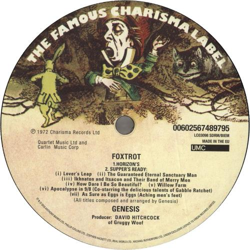 Genesis Foxtrot - 180 gram vinyl LP album (LP record) UK GENLPFO741463