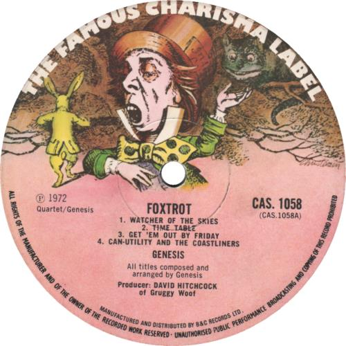 Genesis Foxtrot - 1st + Inner - EX vinyl LP album (LP record) UK GENLPFO250985