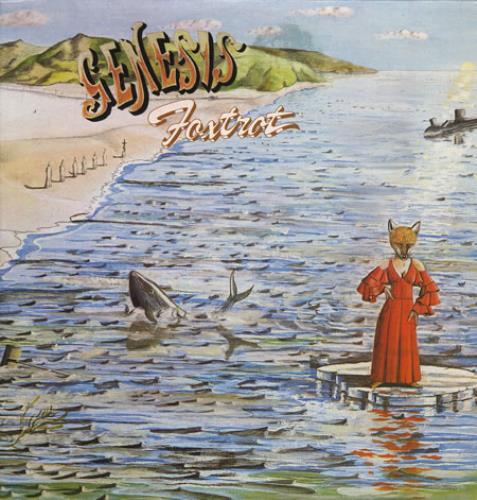 Genesis Foxtrot - Blue Label vinyl LP album (LP record) UK GENLPFO256710