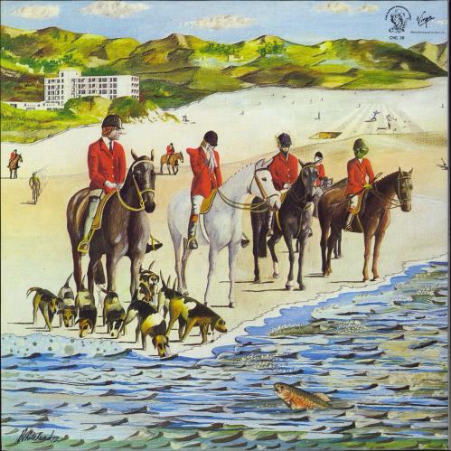 Genesis Foxtrot - Blue Label vinyl LP album (LP record) UK GENLPFO775496