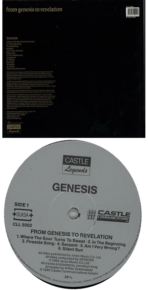 Genesis From Genesis To Revelation vinyl LP album (LP record) UK GENLPFR583810