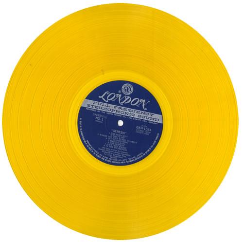 Genesis Genesis - Yellow Vinyl vinyl LP album (LP record) Japanese GENLPGE148333