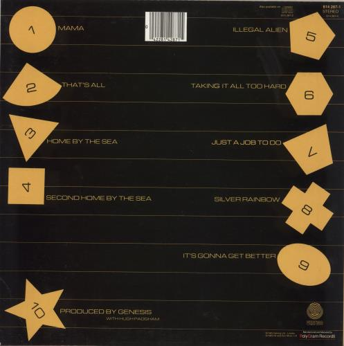 Genesis Genesis vinyl LP album (LP record) Hong Kong GENLPGE711882