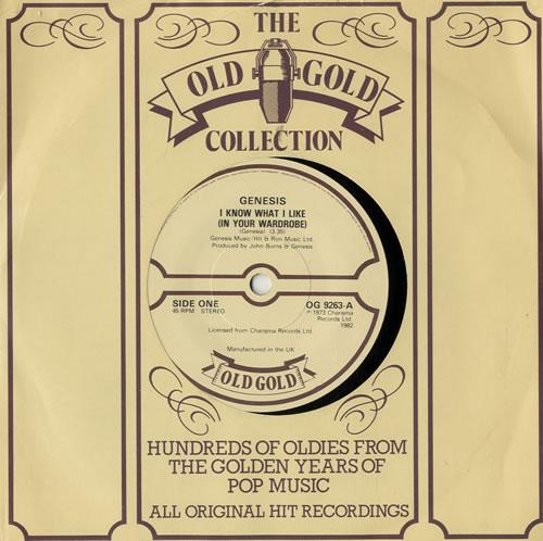 "Genesis I Know What I Like (In Your Wardrobe) 7"" vinyl single (7 inch record) UK GEN07IK577896"
