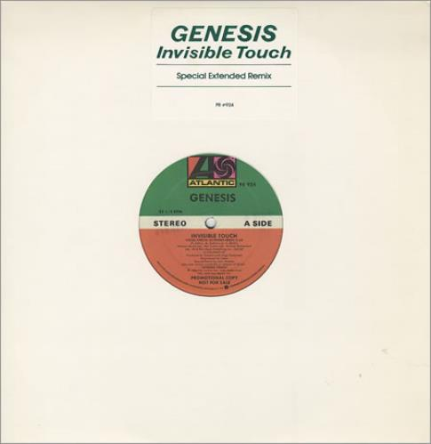 """Genesis Invisible Touch 12"""" vinyl single (12 inch record / Maxi-single) US GEN12IN38040"""