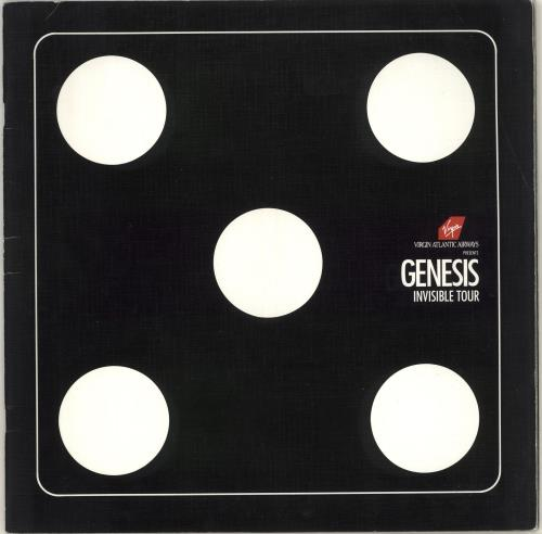 Genesis Invisible Tour + Poster tour programme UK GENTRIN713000