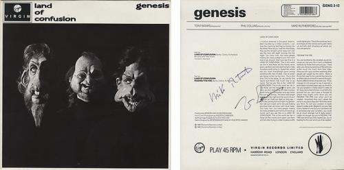 "Genesis Land Of Confusion - Autographed By Mike & Tony 12"" vinyl single (12 inch record / Maxi-single) UK GEN12LA393794"